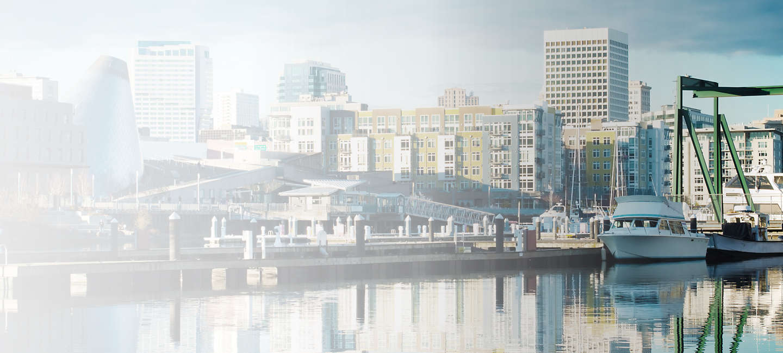 Skyline of greater Tacoma