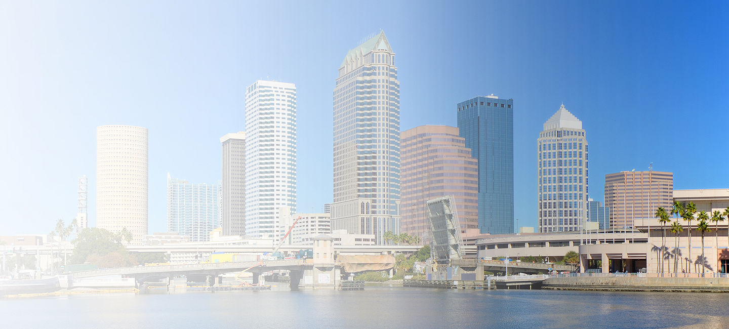 Skyline of greater Tampa