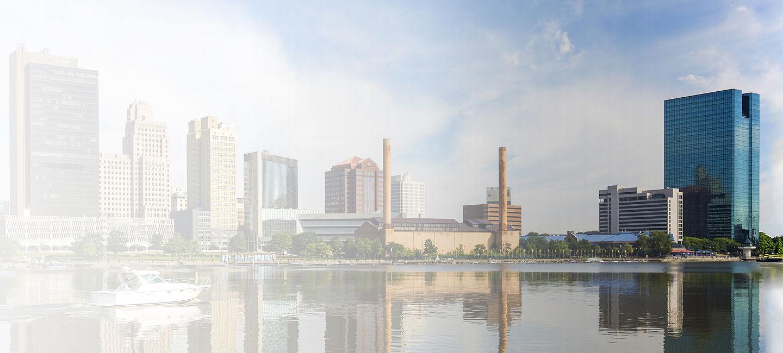 Skyline of greater Toledo