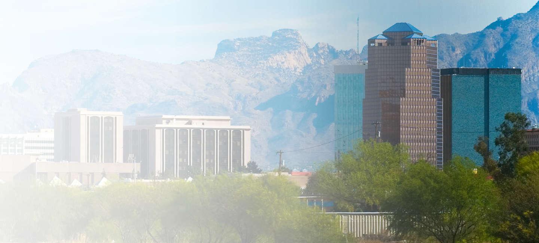 Skyline of greater Tucson