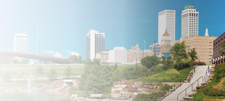 Skyline of greater Tulsa