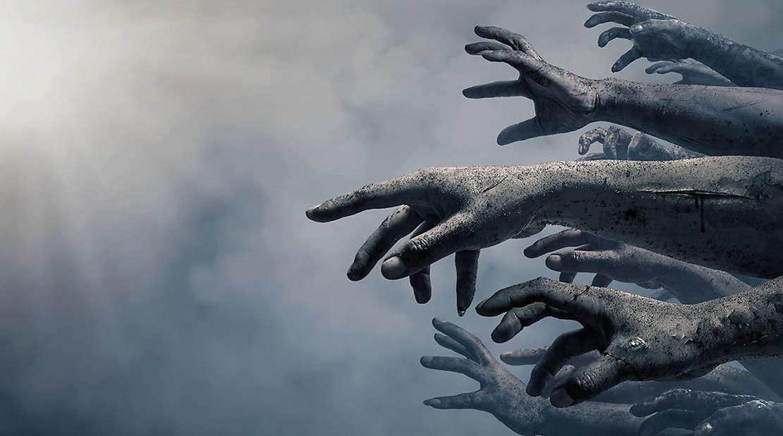 zombie hands from walking dead