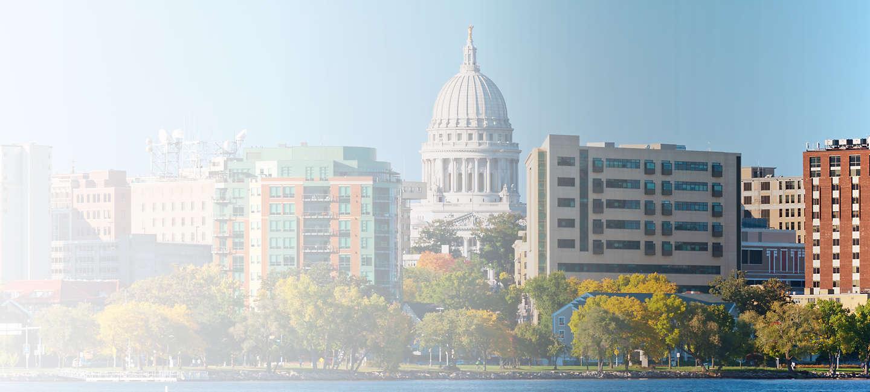 Skyline of greater Wisconsin