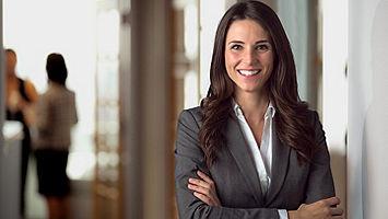 female employee in office